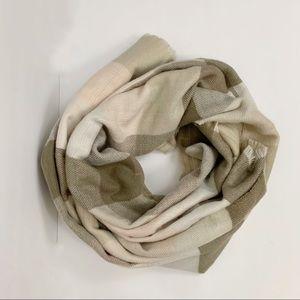 Michael Stars neutral tone blanket scarf